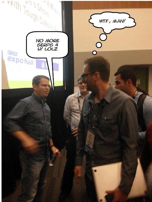 Matt Cutts and Jon Henshaw at SMX West 2013