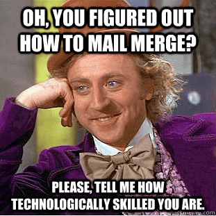 Mail Merges Are Easy